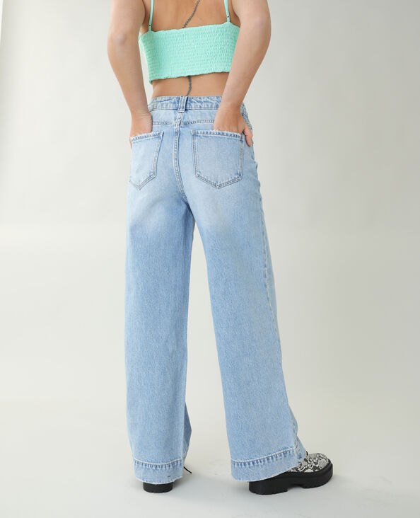 Jeans wide leg blu chiaro