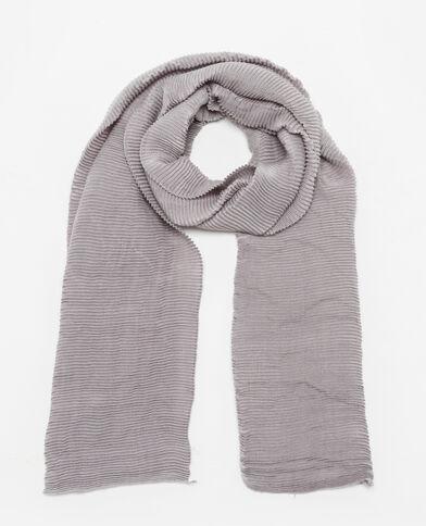 Sciarpa plissettata grigio chiaro chiné