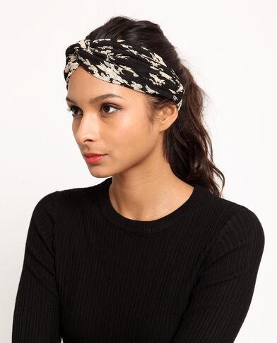 Headband a fiori nero