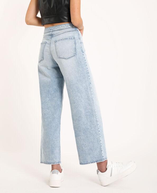 Jeans con gamba larga blu delavato