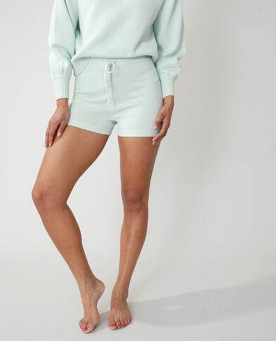 Pantaloncini corti in stile ciclista a coste blu