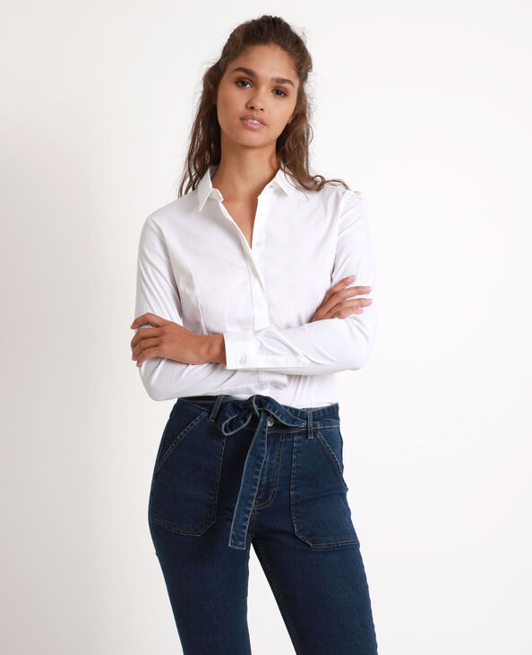 Camicia aderente bianco