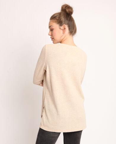 T-shirt morbida beige sabbia