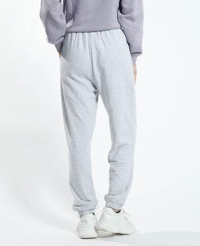 Pantalone da jogging felpato grigio chiné - Pimkie