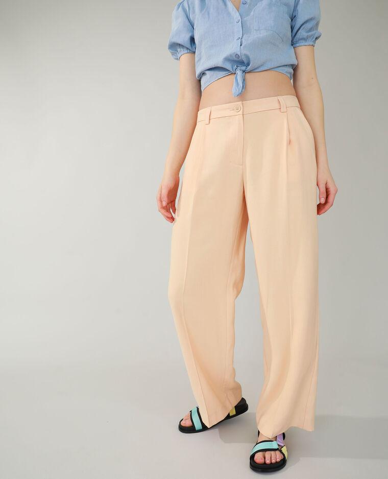 Pantalone wide leg a vita bassa beige - Pimkie