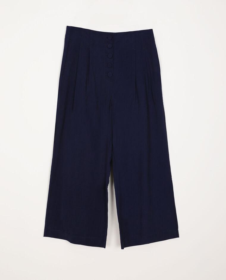 Pantalone a gamba ampia blu marino