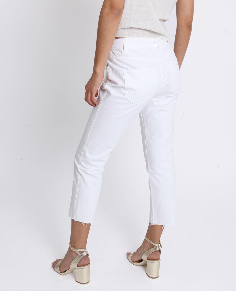 Jeans mid waist écru