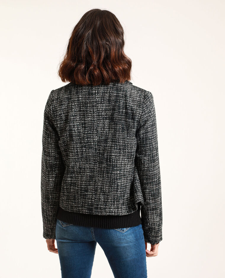 Giacca in tweed nero