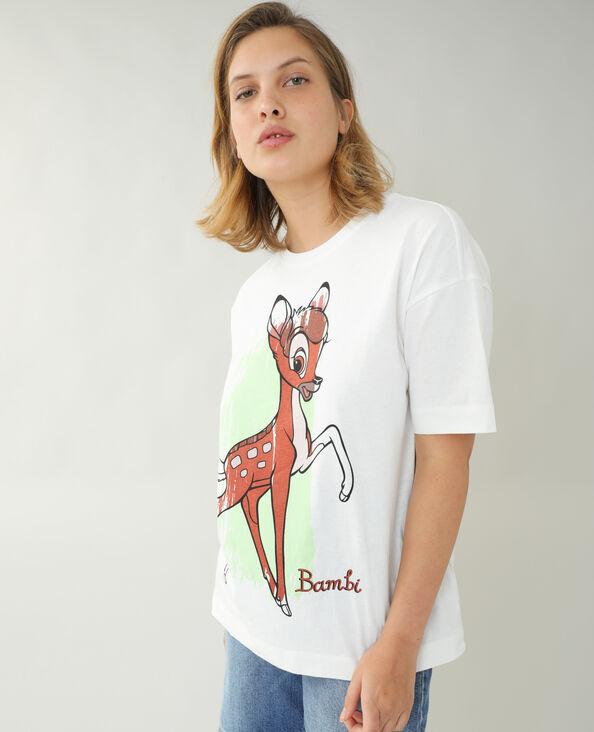 T-shirt ampia Bambi bianco sporco