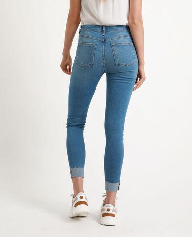 Jeans skinny con borchie blu denim