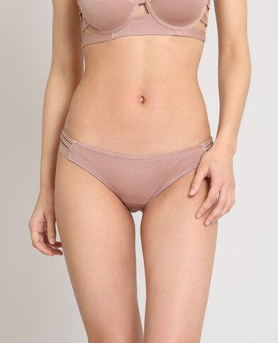 Pezzo sotto di bikini lurex. rosa