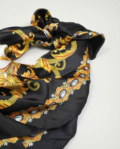 Foulard effetto satinato nero - Pimkie