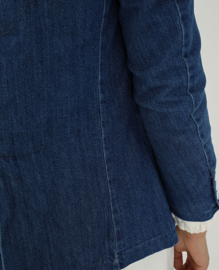 Giacca di jeans blu