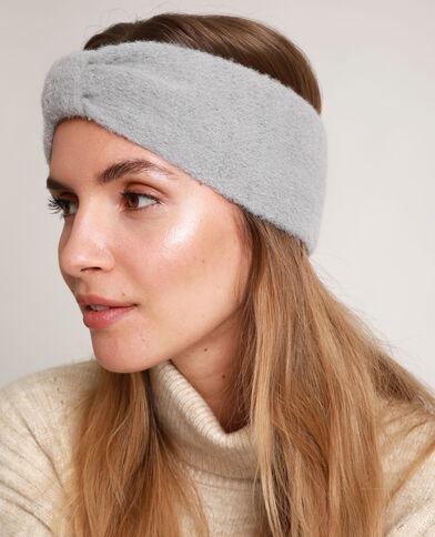 Headband con fiocco grigio perla