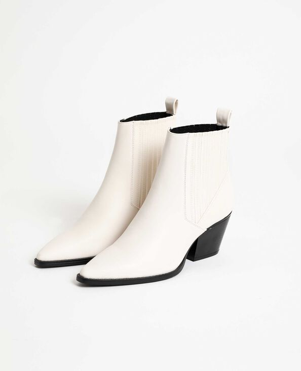Boots in stile western bianco