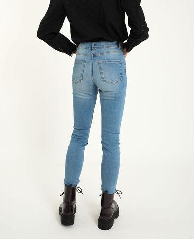 Skinny mid waist blu denim