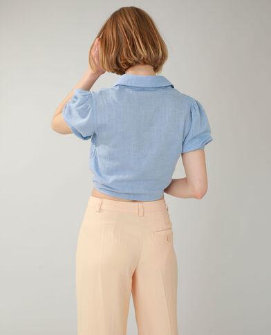 Camicia da annodare blu chiaro - Pimkie