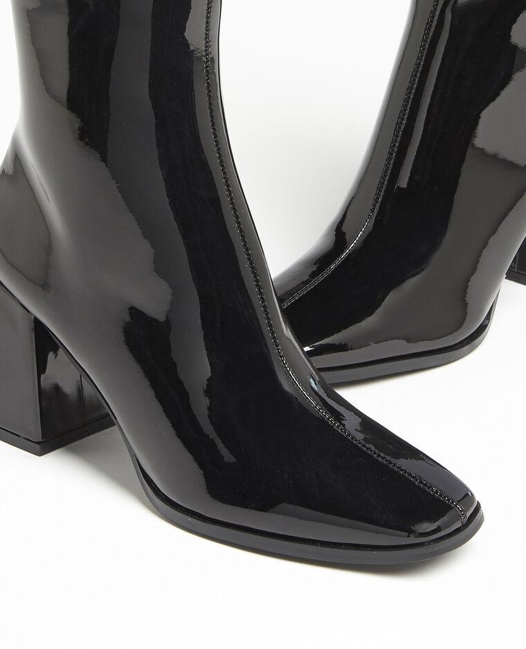 Stivali con punta quadrata nero