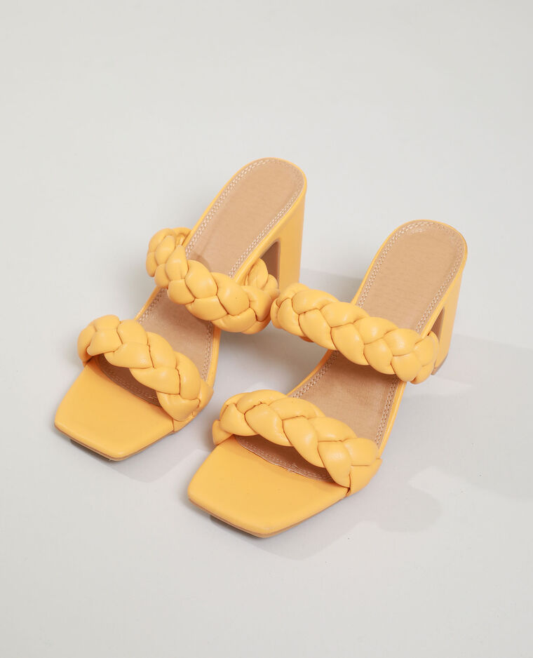 Sabot con tacco intrecciati arancio - Pimkie