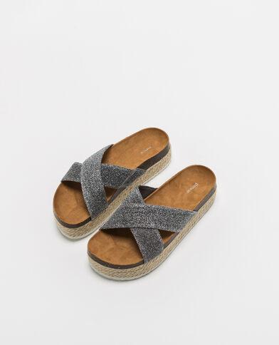 Sandali con plateau bronzo