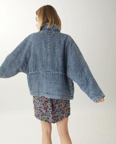 Giacca in jeans trapuntata blu scuro