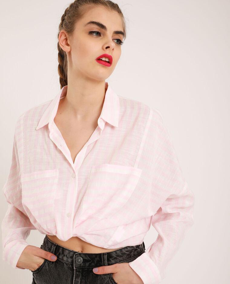 Camicia oversize a righe bianco