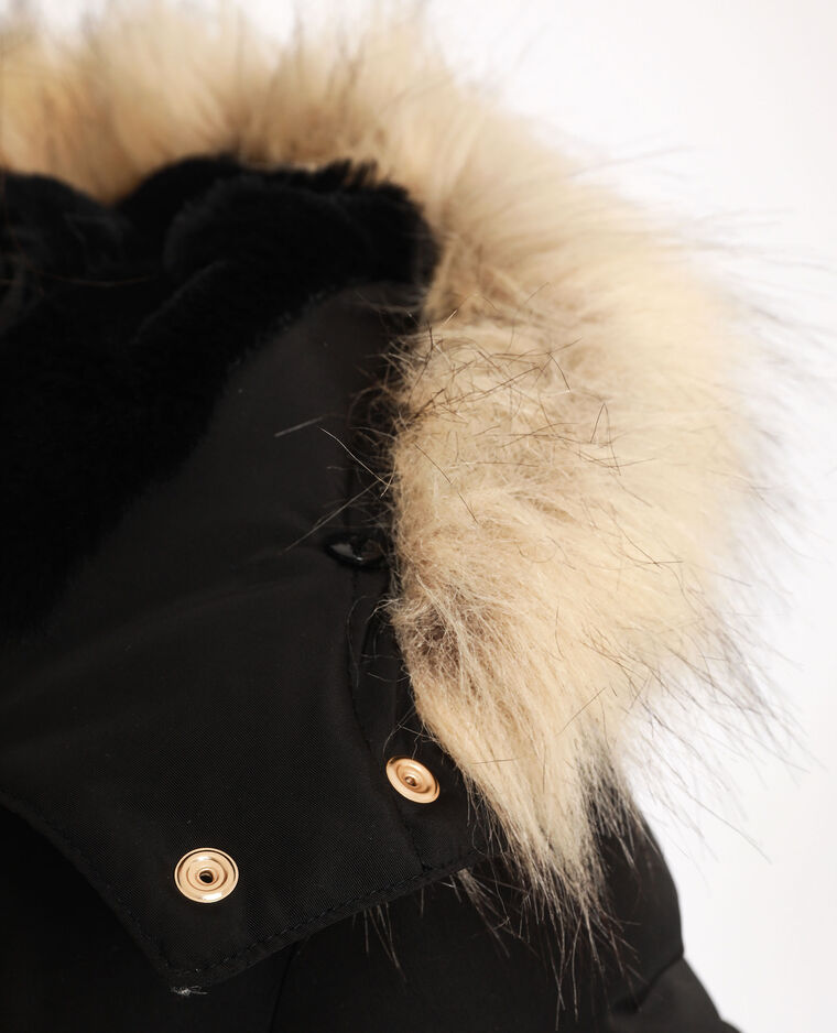 Piumino con cappuccio nero