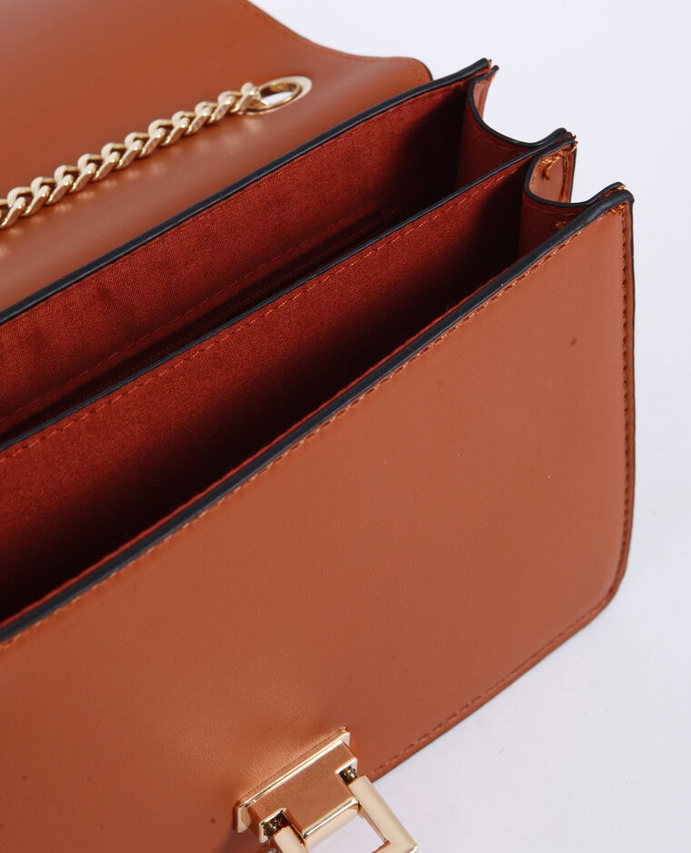 Piccola borsa a tracolla marrone