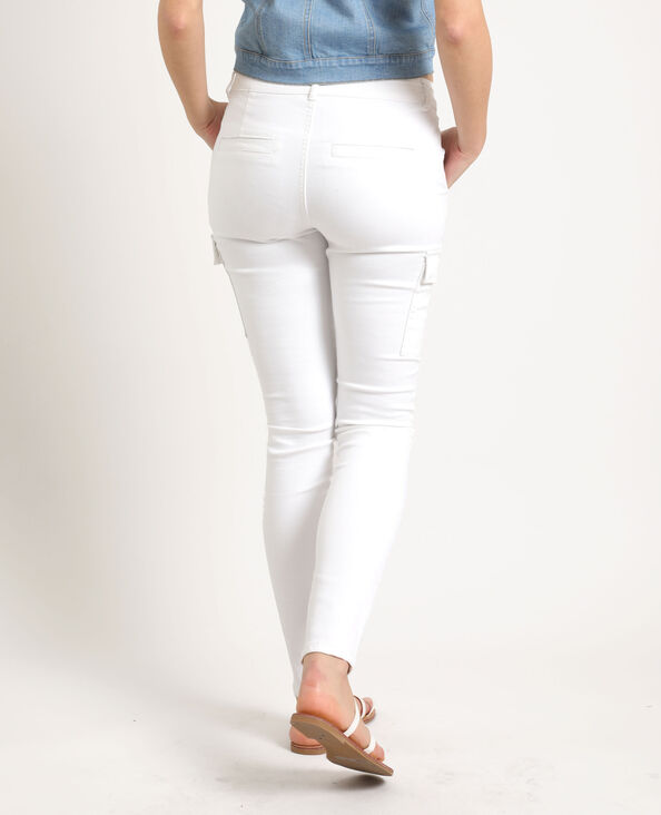 Pantalone skinny con tasche bianco