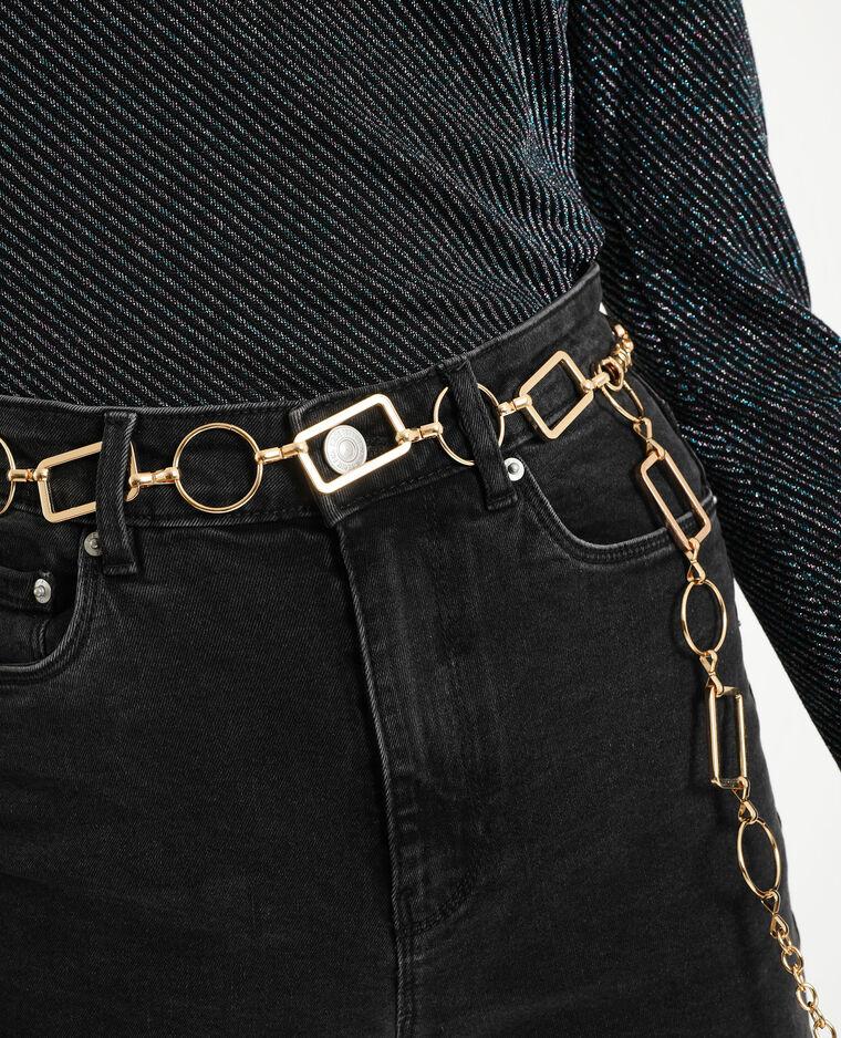 Cintura metallica dorato