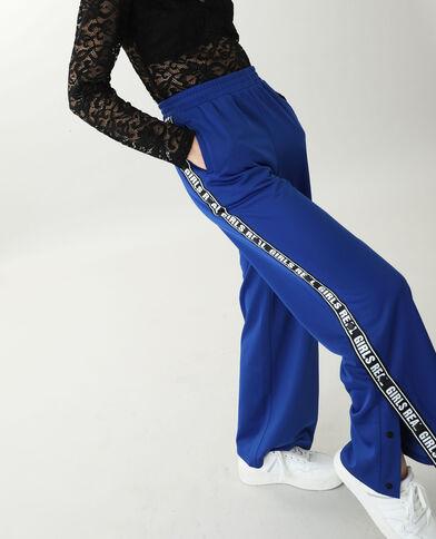 Pantalone da jogging in tessuto felpato blu elettrico - Pimkie