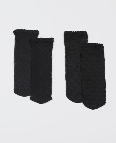 Calze plumetis nero