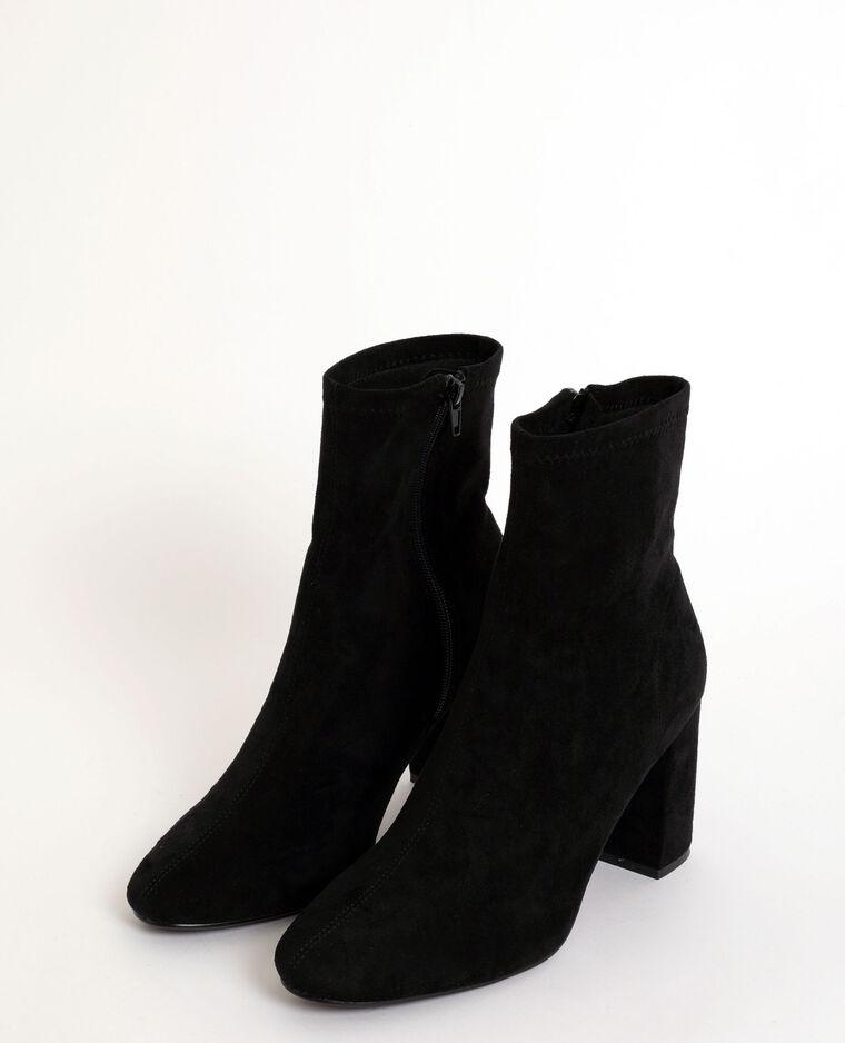 Stivali effetto pelle scamosciata nero