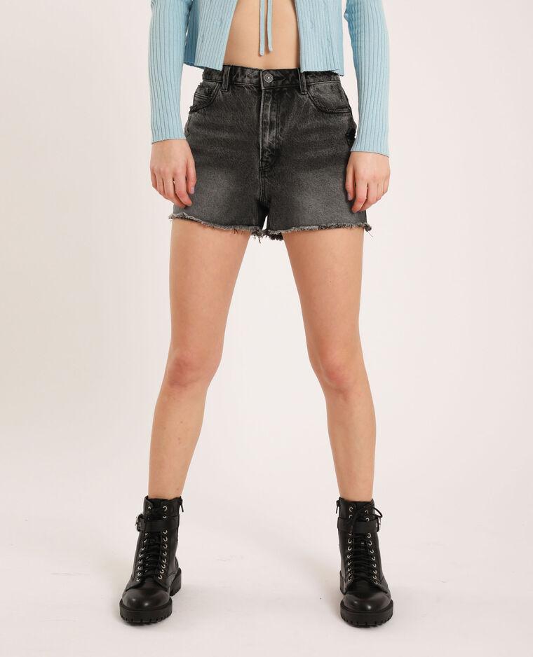 Short di jeans high waist nero