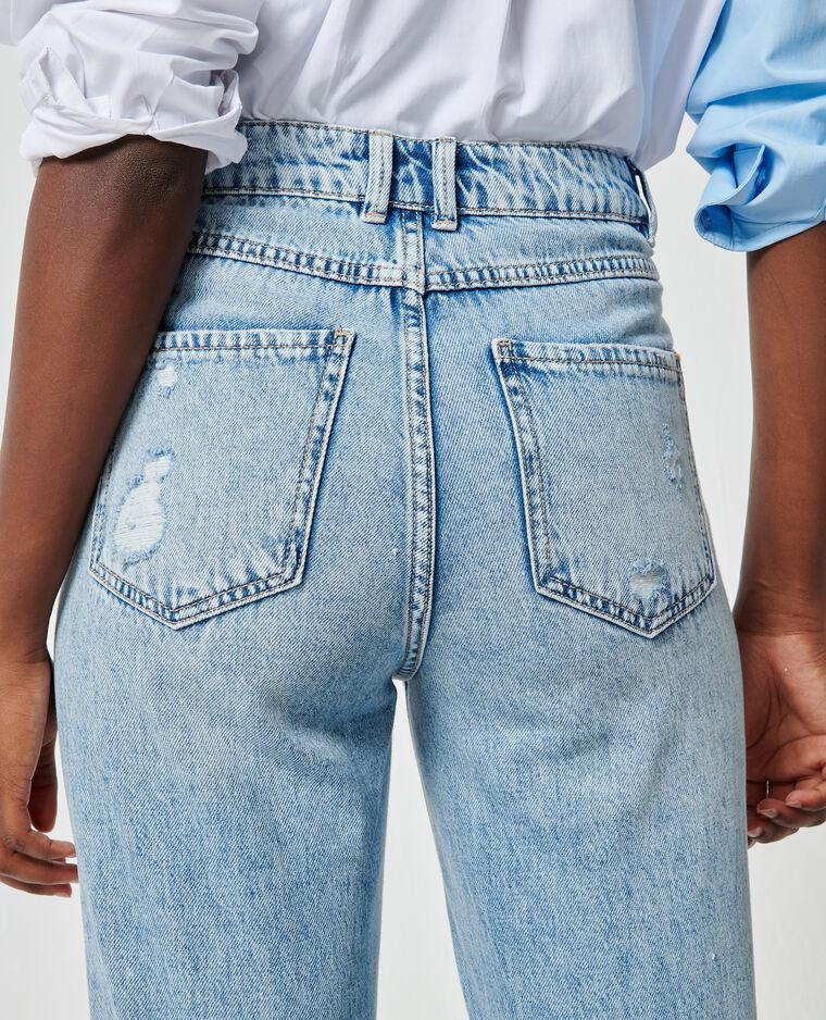 Jeans effetto used blu chiaro - Pimkie