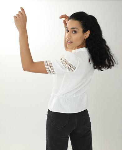 Blusa traforata bianco sporco - Pimkie