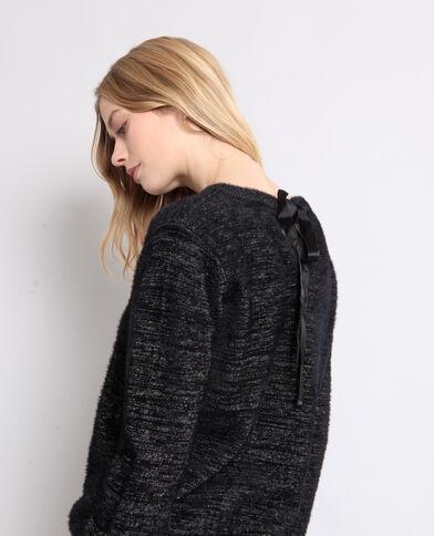 Pull bicolore nero