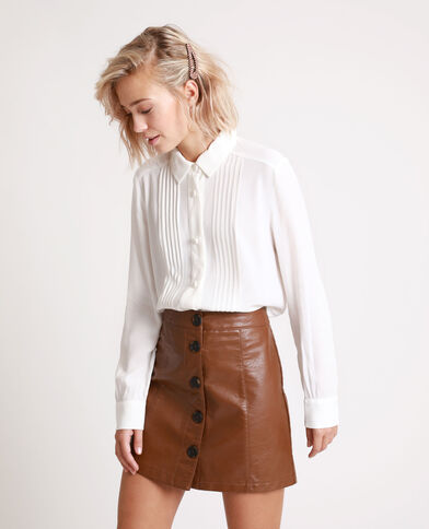 Camicia abbottonata bianco sporco