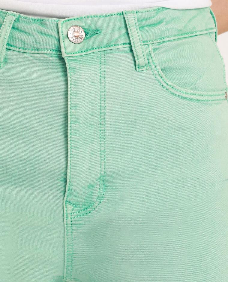 Pantalone skinny high waist verde