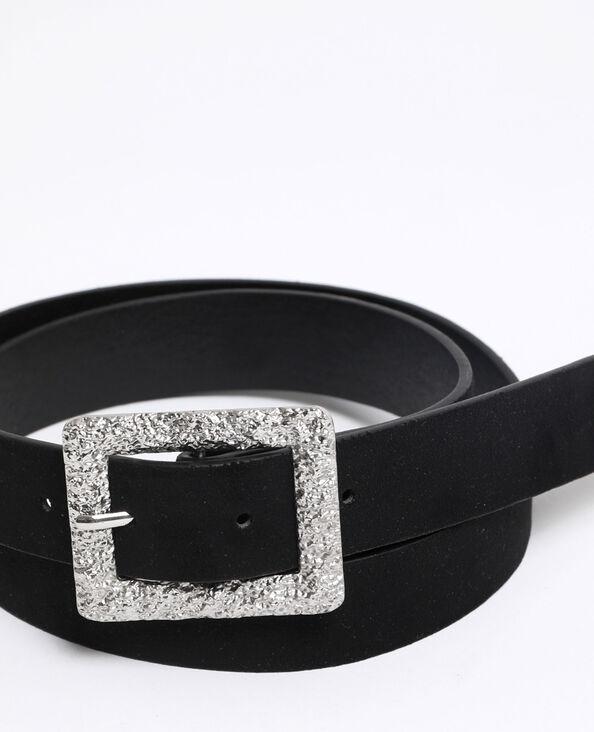 Cintura effetto pelle scamosciata nero