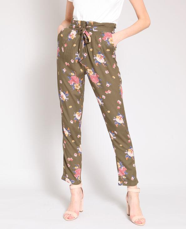 Pantalone morbido stampato verde