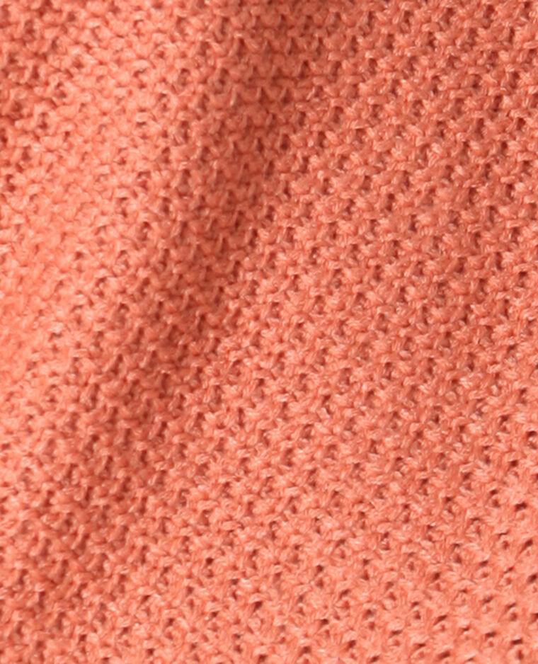 Pull in maglia fantasia terracotta