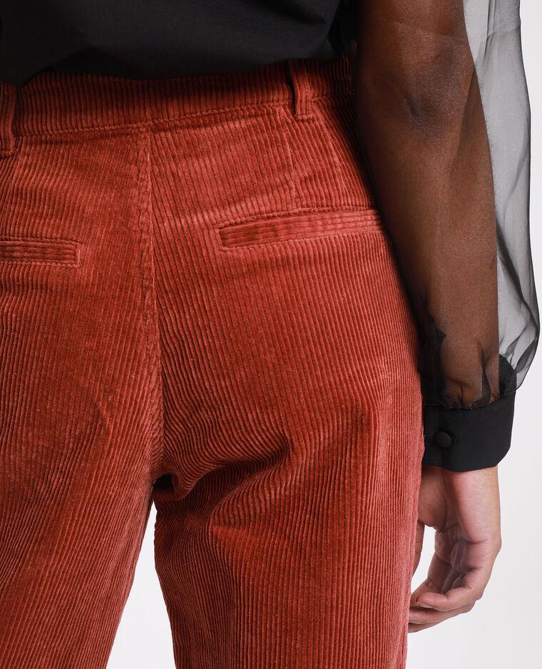Pantalone velluto ruggine