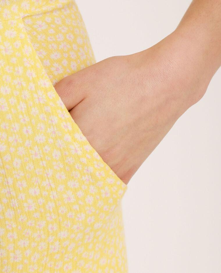 Abito pantalone a fiori giallo