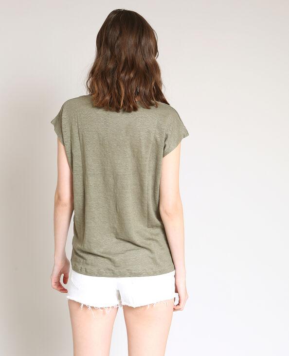 T-shirt in lino verde