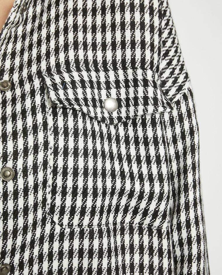 Giacca camicia a quadri bianco - Pimkie