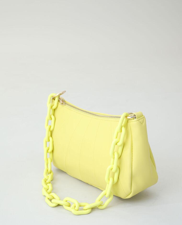 Borsa in similpelle giallo