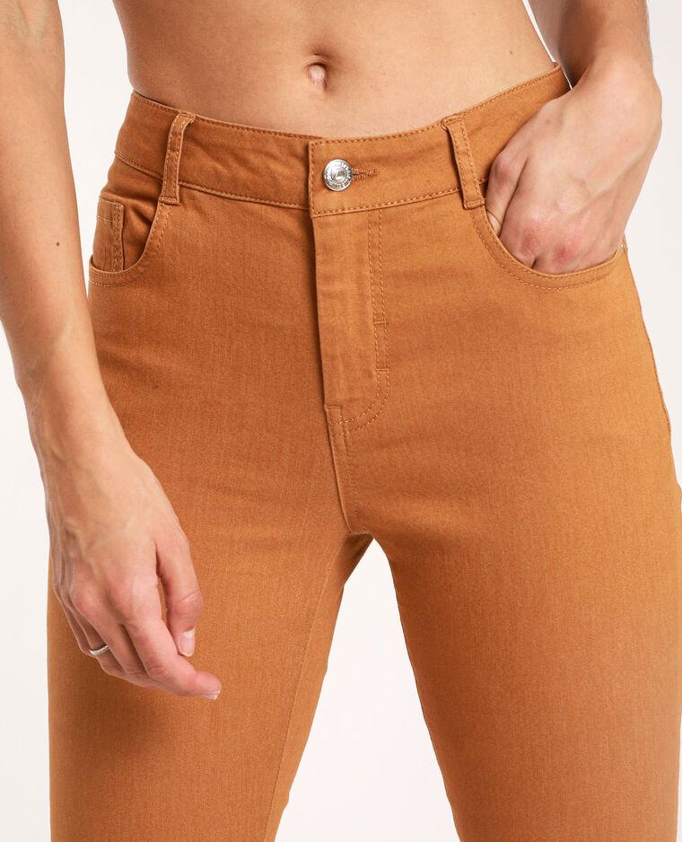 Skinny push up mid waist marrone - Pimkie