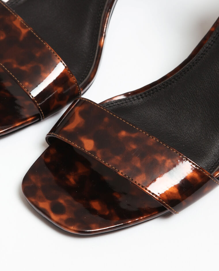 Sandali effetto tartaruga marrone