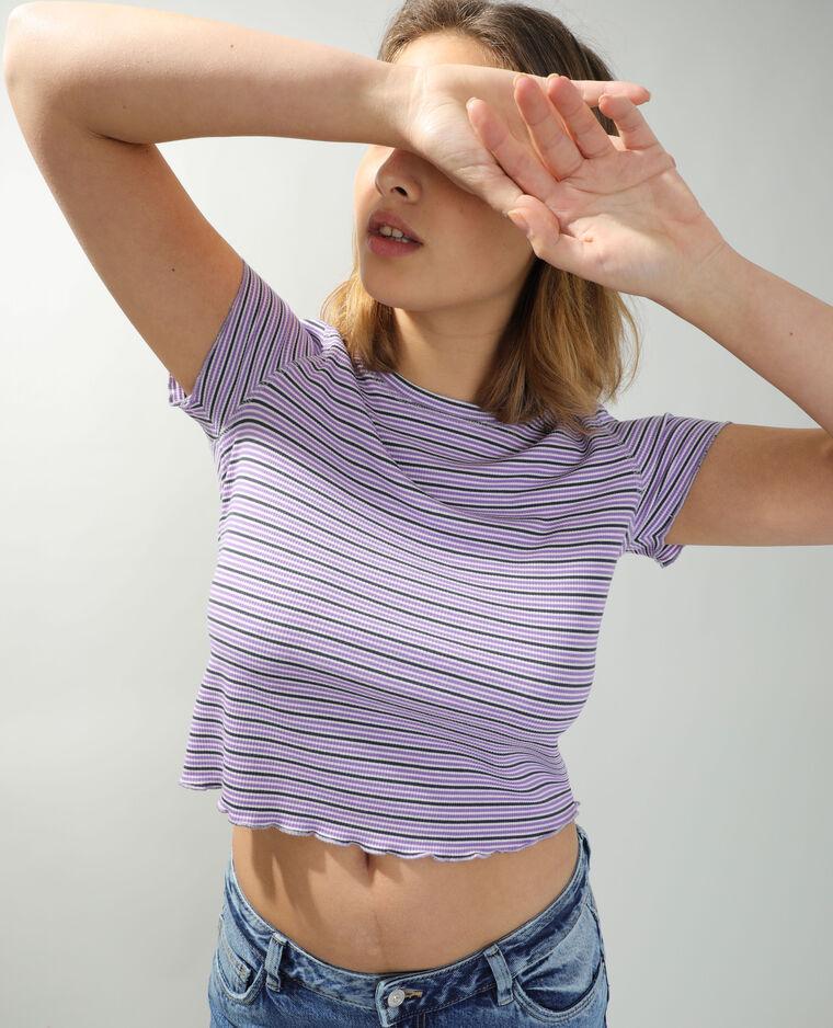 T-shirt a righe bianco